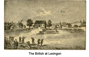 The British at Lexington