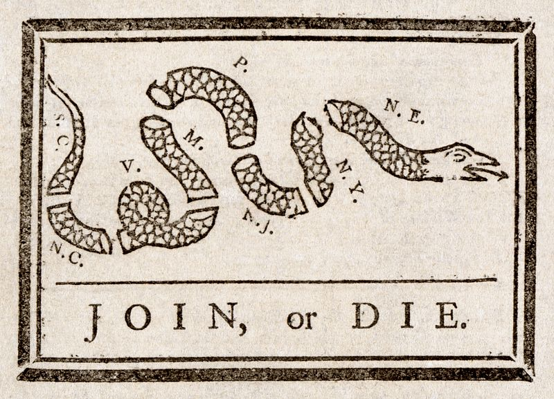 Revolutionary Symbols The Snake Revive 1775